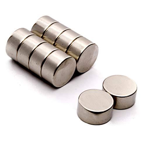 Power Magnet Store 1,27 cm Durchmesser x 0,64 cm Dicke (12,7 mm Durchmesser) Neodym-Scheibenmagnet, 6,3 mm dick, sehr Starke Haftkraft von ca. 4,25 kg, rund, NdFeB Neodym-Magnet, seltene Erde, Magnet (Magnet Erde)