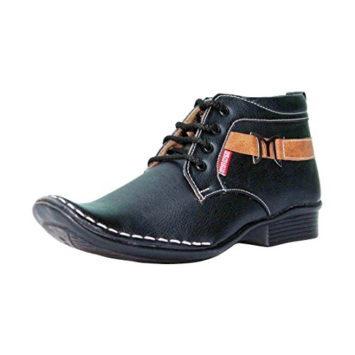 Marco Ferro Men's Black Synthetic Boots (Marco 1422 Black-42) - 8 UK