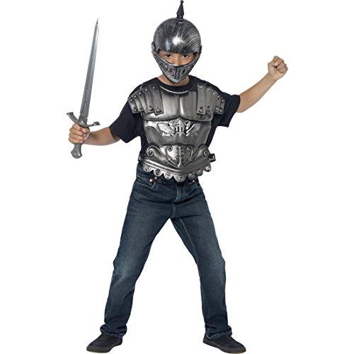 Kinder Ritterrüstung Ritter Kostüm Helm Brustpanzer Schwert Mittelalter Ritterkostüm Ritterset Rüstung Mittelalterkostüm Kämpfer Karnevalskostüme (Kostüm Ritter Brustpanzer)