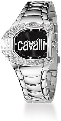 Just Cavalli R7253160525 - Reloj con correa de metal, para mujer, color negro / plateado