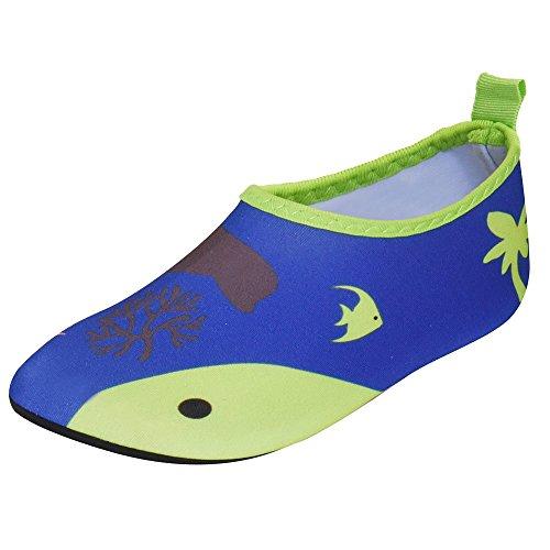 Bild von JACKSHIBO Unisex-Kinder Wasserschuhe Jungen Strandschuhe Aqua Schuhe Mädchen Schwimmschuhe Surfschuhe Badeschuhe, Kinder S(EU 26-27)=150-160MM, Farbe: Blue/2