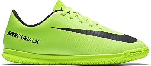 Nike Mercurial Vortex Iii Ic, Chaussures de Football Mixte Enfant Vert (Electric Green/Black-Flash Lime-White)