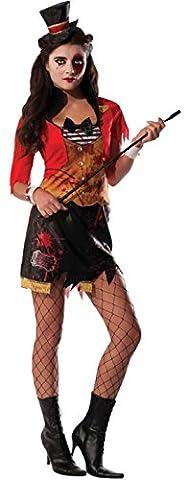 Karnevalsbud - Damen Ring Mistress Zirkusdirektorin Karneval Halloween Kostüm , Mehrfarbig, Größe M/L