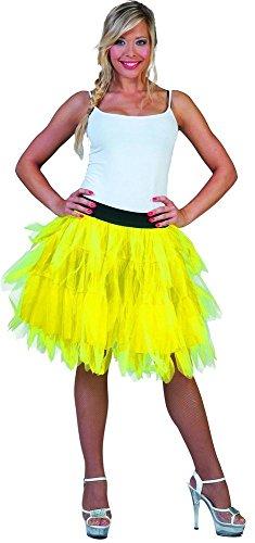 Fantasie Kostüm Rock Damen 50 cm - Neon Gelb -