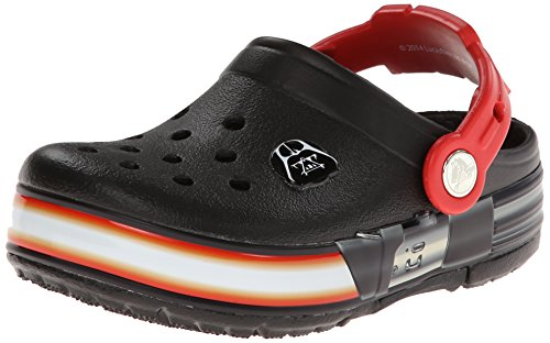 crocs CrocsLights Star Wars Vader, Unisex-Kinder Clogs, Schwarz (Black/Flame 0X9), 28/29 EU (C11 Unisex-Kinder UK)