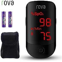 Oxímetro de Pulso, ROVA Pulsioxímetro de Dedo con Pantalla OLED, Lector de Pulso Digital