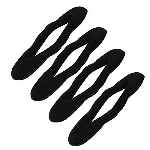 4 Stück Schaum-Schwamm-Brötchen-Haar-Torsion-Clip Frisur Maker Former