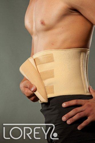 Hochwertige Rückenbandage/Rückenstütze LOREY-LU10004 aus Neopren Schwarz