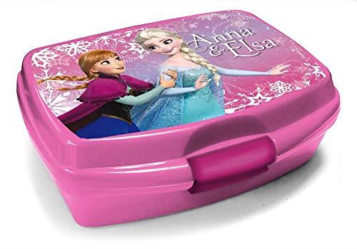 Unbekannt Brotdose für die Schule rosa, kompatibel zu Disney Die Eiskönigin Frozen, Lunchbox Anna ELSA | Geschenk | Brotbox | Kita | Kind | Mädchen