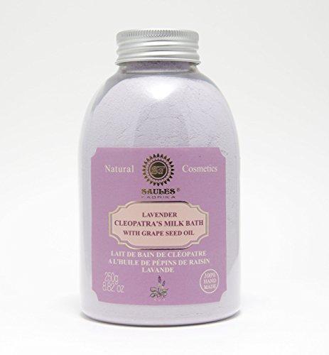 Saules Fabrika Cleopatra Bademilch Badezusatz 250gr.Handgemacht Badepulver (Lavendel)