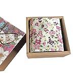 Chinashow Womens/Girls Vintage Floral Print Baumwolle Taschentücher Floral Taschentuch mit Geschenkbox A18