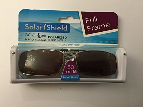 d0243cb3dc Solar Shield 50 rec 15 Full Frame Polarized driving lens Clip On Sunglasses  by Solar Shield
