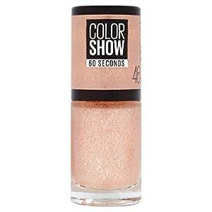 Maybelline New York Colorshow - Vernis à ongles -46 Sugar Crystal - Rose pailleté