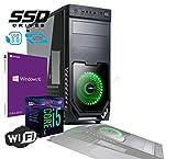 Pc Desktop INTEL I5 SIX CORE 8th gen Up To TURBO 4,0 GHZ Windows 10 PRO 64 BIT ORIGINALE CASE ATX USB 3.0 PSU 600W RAM 16GB DDR4 SSD 480GB Scheda Video UHD 4K USCITE HDMI DVI VGA WIFI 300MB DVD RW LG