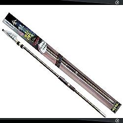 HUWAI Canne à pêche Portable Télescopique Fibre de Carbone Canne à pêche pour Eau Douce de, 6.3 m
