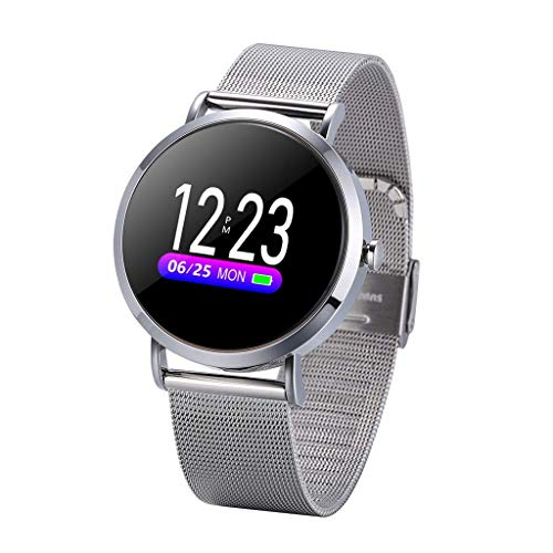 OPTA RSB-091 Bluetooth Fitness Band Smart Watch for Android, iOS Devices(Silver Steel)