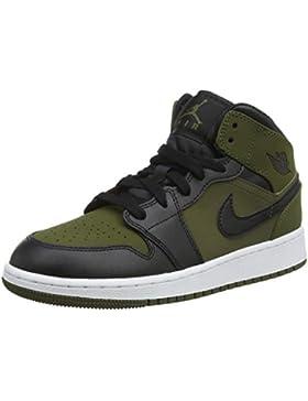NIKE Air Jordan 1 Mid Bg, Zapatos de Baloncesto para Niños
