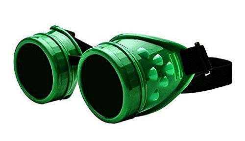 Inception Pro Infinite (Dunkelgrün) Sonnenbrillen - Viktorianische Ära - Steampunk - Viktorianisch - Gotisch - Gogless - Schweißen Neu