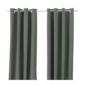 IKEA MERETE Gardinenpaar in grau; (145x300cm)