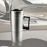 XdremYU - Taza de acero inoxidable con calefacción eléctrica para coche (12 V/24