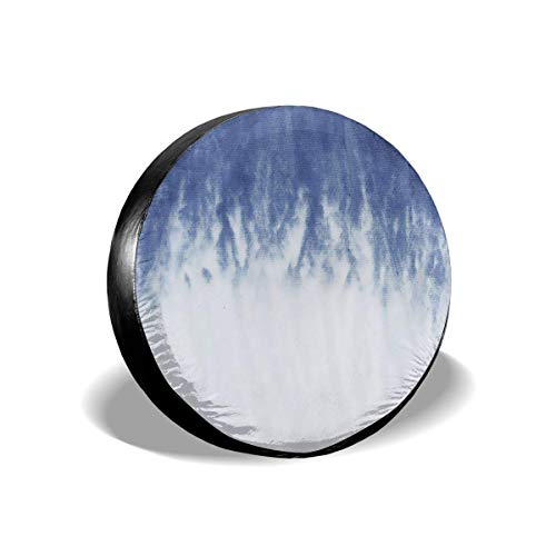 MIOMIOK Tire Cover Tie Dye Pattern Dip Dyed Potable Polyester Universal Spare Wheel Tire Cover Wheel Covers for Trailer RV SUV Truck Camper Travel Trailer Accessories(14,15,16,17 Inch) 14 Floral Dip