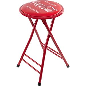 "Coca-Cola ""Delicious Refreshing"" Cushioned Folding Stool, 24"""