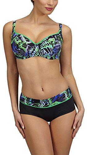 Feba Bikinis Conjunto Tops y Bragas Trajes de Baño 2 Piezas Bañadores Ropa Verano MujerD1L31 Modelo-09DK...