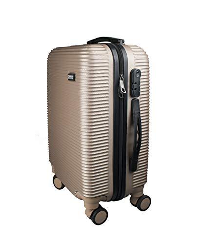 """Proffi Trolley HARDCASE Beige S 20\"""" 50 Koffer. Beige Rolling Suitcase"""