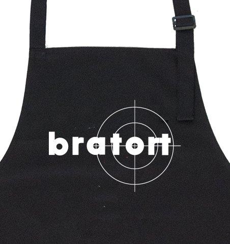 GRILLHIT X Grillschürze schwarz: Bratort - Geschenk für Männer, Freund, Papa, Mann - Passende Kleidung Freund