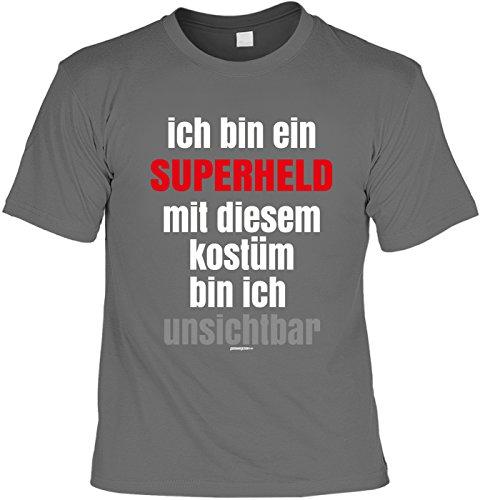 Karnevalskostüm T-Shirt Unisex für Faschings Narren und auch Muffel: Ich bin ein Superheld mit diesem Kostüm bin ich unsichtbar (Unisex Ich Bin Unsichtbar Kostüm)