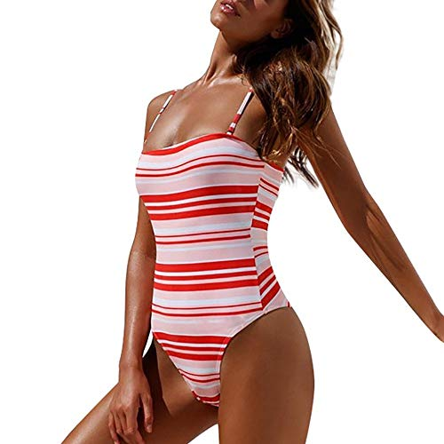 Dtuta BadeanzüGe FüR Bikinis MäDchen Damen Push Up Victoria Secret Bademode Strap Solid Color Stripe Verstellbarer Schultergurt Pink Girl Hearts Body Tights -