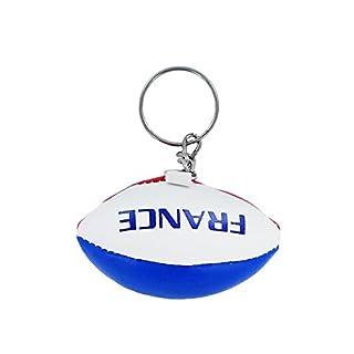 Akacha Schlüsselanhänger, Design: Mini-Rugbyball mit französischer Flagge
