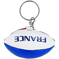 Porte clé clés clefs rugby drapeau france français flag mini ballon