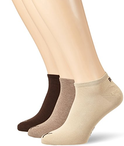 Puma Herren Unisex Socken Plain, 3er Pack, Braun (Chocolate/Walnut/Safari), Gr. 47-49