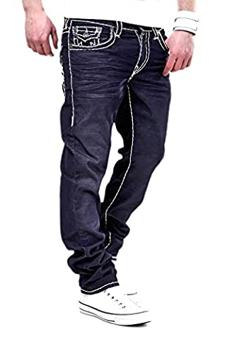 True Religion Feinkord-Jeans GENO Corduroy Super T Dunkelblau [W31]