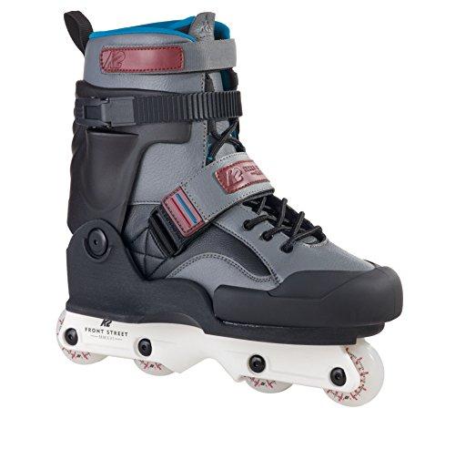 K2 Unisex Inline Skates Front Street - Schwarz-Grau - EU: 44.5 (US: 11 - UK: 10) - 30A0017.1.1.110