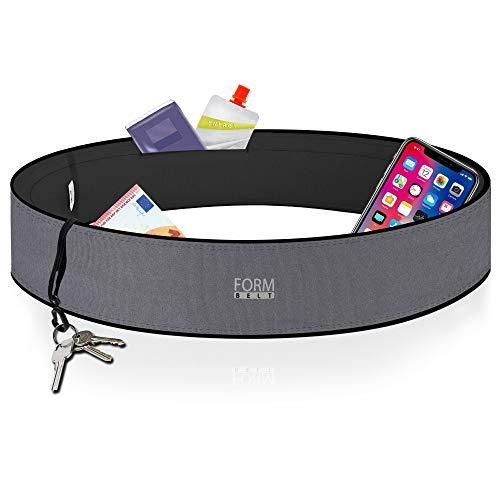 Formbelt® Laufgürtel für Handy Smartphone iPhone 8 X XS XR 11 6-s 7+ Plus Samsung Galaxy S7 S8 S9 S10 Edge Hüfttasche für Sport Fitness Laufen Bauchtasche zum Laufen (grau, XS)