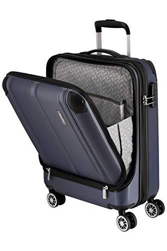 """Travelite Leicht, flexibel, sicher: """"City""""-Hartschalenkoffer für Urlaub und Business (auch mit Vortasche) Koffer, 55 cm, 40 Liter, Marine"""