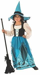 Halloween - Disfraz de Bruja para niña, color azul - 5-7 años (Rubie