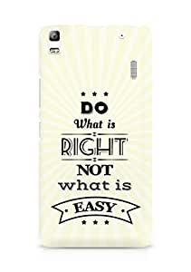 Amez Do what is Right Not what is Easy Back Cover For Lenovo K3 Note