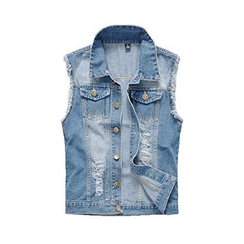 ZBSPORT Herren Weste Ärmellose Jeans Beiläufige Cowboy Jeansweste Denim Slim Fit Weste Outwear Outfit XXS-XXXXL
