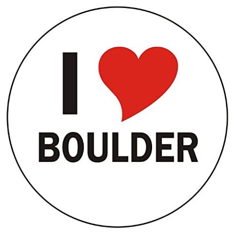 I love Boulder Car Sticker / Decals / Bumper Sticker - 8 cm / 3,14