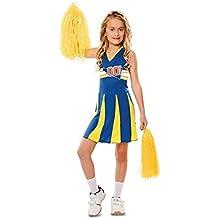 Disfraz de Animadora Azul y Amarilla para niña ea94004fd2ebb