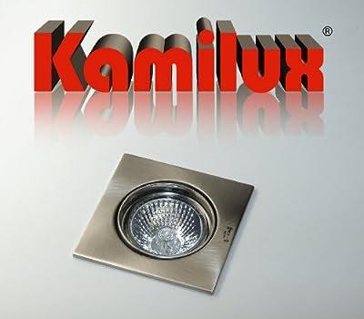 Einbauleuchte Einbauspot Einbaustrahler Quadrato 230V edelstahl.gebürstet o. Leuchtmittel von Kamilux GmbH bei Lampenhans.de