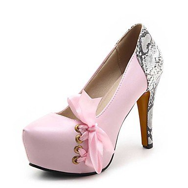 Talloni delle donne Primavera Estate Autunno tacco Altro PU Wedding ufficio & carriera Abito a spillo Altri Nero Rosa Bianco Pink