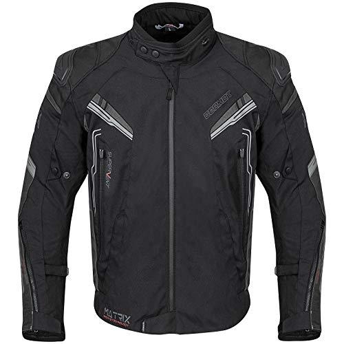 Germot Matrix Motorrad Textiljacke Schwarz/Grau XL