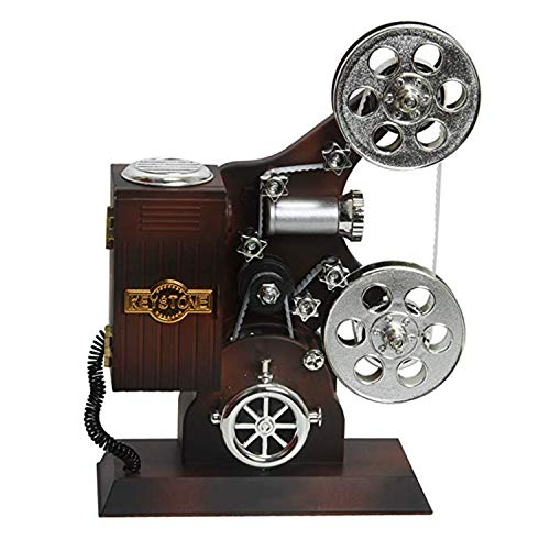 XCXDX Proyector Retro De Películas, Caja De Música, Decoración De Regalo Creativa, Melodía De For Elise.