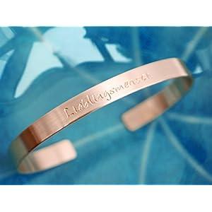 Kupfer Armreif Lieblingsmensch handgestempelt 6mm breit