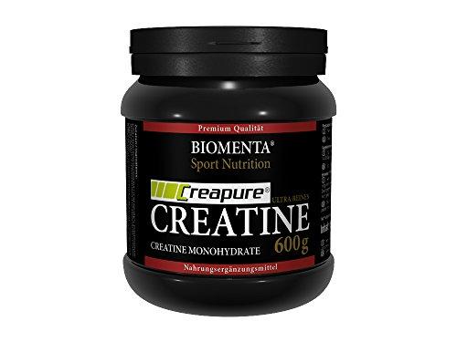Biomenta® 600g CREATIN MONOHYDRAT | CREAPURE® Creatine / Kreatin | Deutsche Qualität | VEGAN | Optimiert mit B-VITAMINEN wie B6 (Pyridoxin), B9 (Folsäure) und B12 (Methylcobalamin) | Unterstützt beim Kraftsport & Bodybuilding