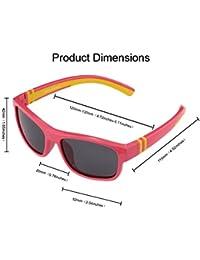 Duco Premium Retro rettangolo telaio polarizzato occhiali da sole 100% protezione UV 3379 (cornice nera scuro lente verde) NJtNJhFZo